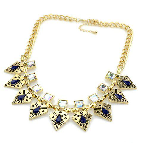 Trendy Triangle Shape Pendant Embellished Women's Necklace - AS THE PICTURE