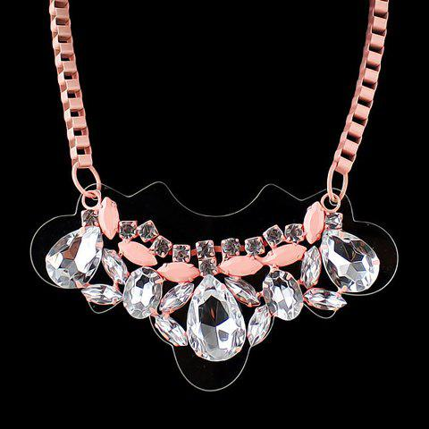 Trendy Crystal Pendant Women'sNecklace - PINK