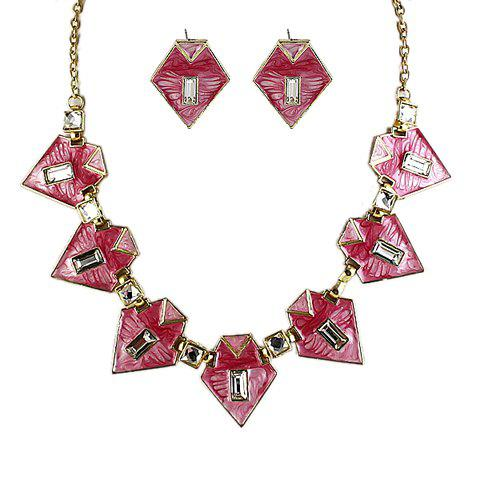 Ethnic Style Triangle Shape Women's Necklace and A Pair of Earrings - ROSE MADDER