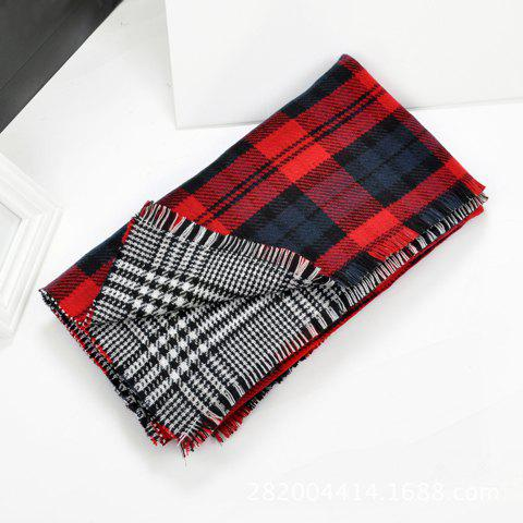 Stylish Tartan Print Pashmina For Women - COLOR ASSORTED