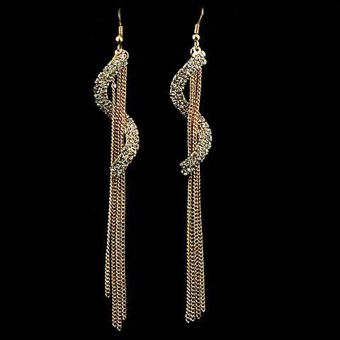 Pair of Graceful Solid Color Tassel Embellished Women's Earrings - AS THE PICTURE