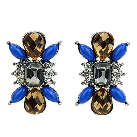 Pair of Women's Graceful Faux Gem Embellished Earrings -  AS THE PICTURE