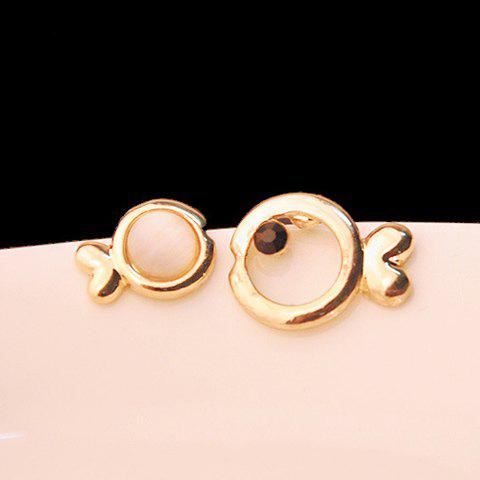 Pair of Cute Fish Shape Openwork Women's Earrings - AS THE PICTURE