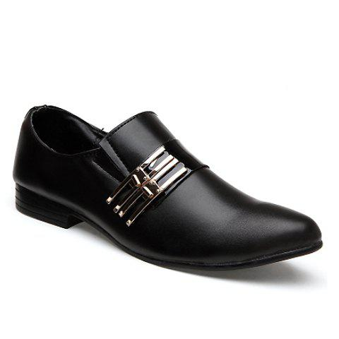 Stylish Pointed Toe and Metallic Design Men's Formal Shoes