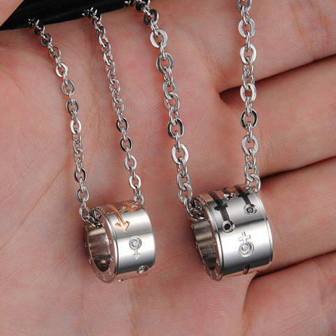 ONE PIECE Stylish Chic Openwork Round Pendant Necklace For Lovers - MALE