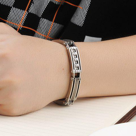 Chic Stylish Characteristic Pattern Link Chain Bracelet For Men - SILVER