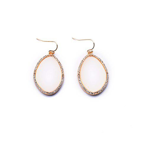 Pair of Trendy Solid Color Pendant Women's Earrings - WHITE