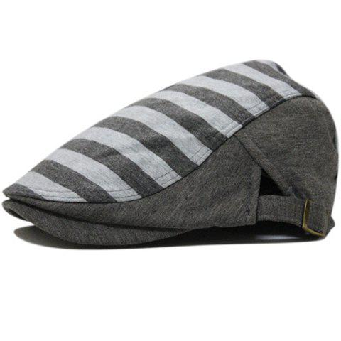 Adjustable Stripe Hat For Men and Women - COLOR ASSORTED ONE SIZE