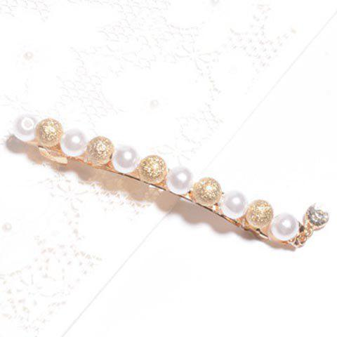 Chic Women's Faux Pearl Embellished Hairpin