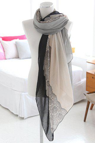 Graceful Mixed Pattern Multicolor Chiffon Scarf For Women