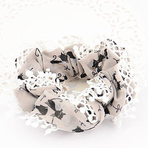 Sweet Women's Lace Embellished Elastic Hair Band - COLOR ASSORTED