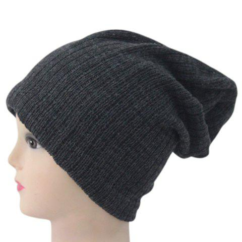 Men and Women's Soft Solid Color Double-Deck Beanie - COLOR ASSORTED
