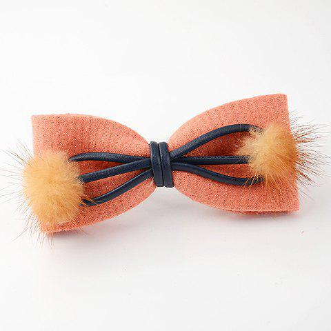 Chic Women's Woolen Bowknot Hairpin - COLOR ASSORTED