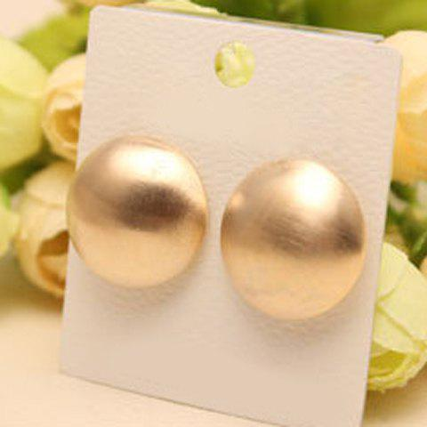 Pair of Dazzling Solid Color Women's Earrings - GOLDEN