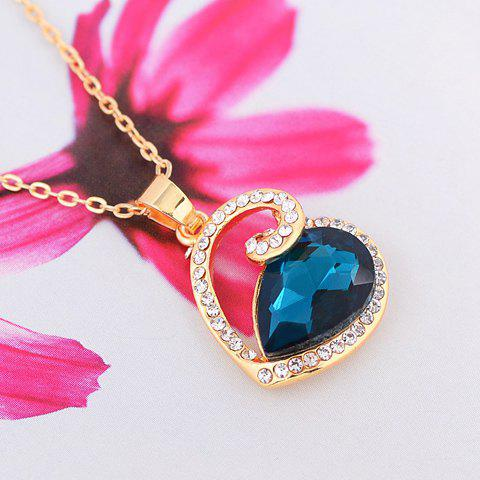 Exquisite Women's Rhinestone and Crystal Embellished Swan Shape Necklace - COLOR ASSORTED