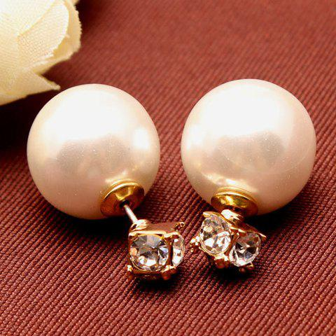 Pair of Seductive Solid Color Beads Embellished Women's Earrings - COLOR ASSORTED