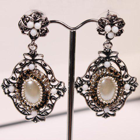Pair of Seductive Rhinestone Embellished Pendant Women's Earrings - COLOR ASSORTED