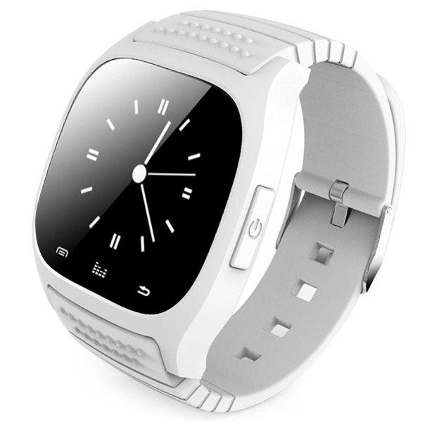 RWATCH M26 Bluetooth Watch LED Light Display with Dial / Call Answer / SMS Reminding / Music Player / Anti-lost / Passometer / Thermometer for Samsung / HTC - OFF WHITE