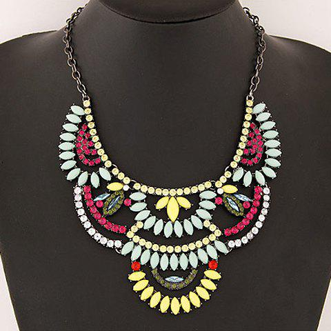 Attractive Gemstone Embellished Special Shape Women's Necklace