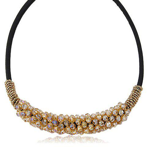 Alloy Beads Embellished Necklace - CHAMPAGNE
