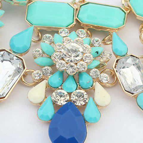Glamourous Faux Gem Pendant Embellished Necklace For Women