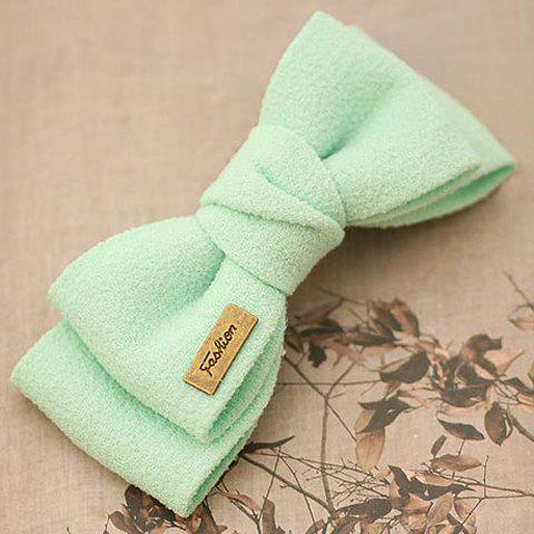 Glamourous Women's Solid Color Bowknot Embellished Hairpin - GREEN