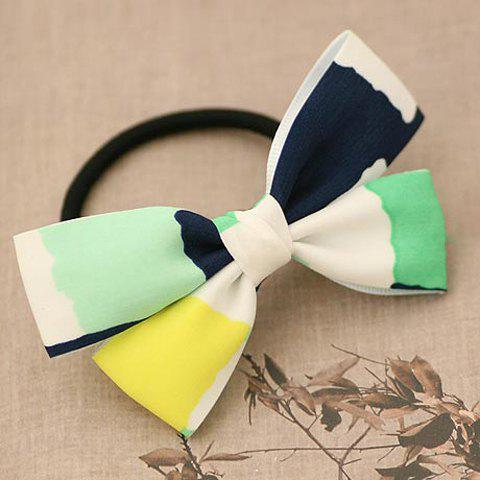 Glamourous Women's Bowknot Shape Embellished Elastic Hair Band - GREEN