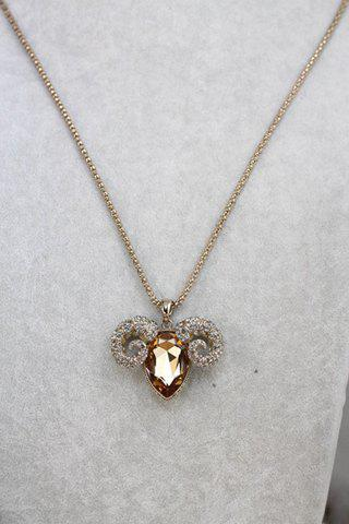 Stylish Chic Women's Crystal Rhinestone Sheep Sweater Chain Necklace - COLOR ASSORTED