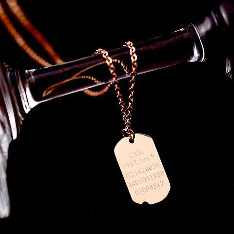 Sweet Delicate Women's Square Pendant Sweater Chain Necklace - GOLDEN