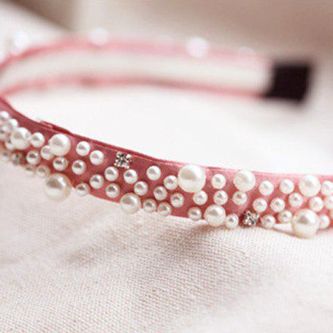 Stylish Faux Pearl Embellished Women's Hairband  (ONE PIECE) - COLOR ASSORTED