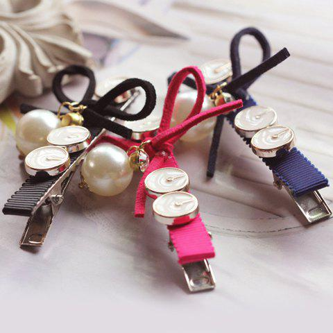 Stylish Solid Color Button Embellished Women's Hairpin (ONE PIECE) - COLOR ASSORTED