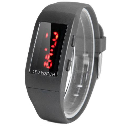 JIJIA ZX 1405 LED Digital Watch Children Wristwatch PU Band Pin Buckle - BLACK