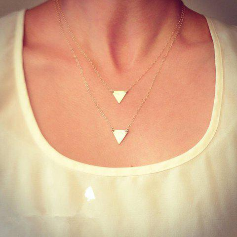 Charming Solid Color Triangle Shape Pendant Multi-Layered Women's Necklace - AS THE PICTURE