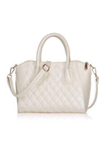 6f4dd6749a Stylish Solid Color and Checked Design Women s Tote Bag