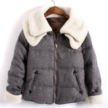 Cute Thicken Double-Deck Woolen Turn-Down Collar Long Sleeve Coat For Women