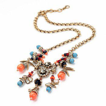 Graceful Faux Gem Embellished Special Shape Pendant Women's Necklace - AS THE PICTURE