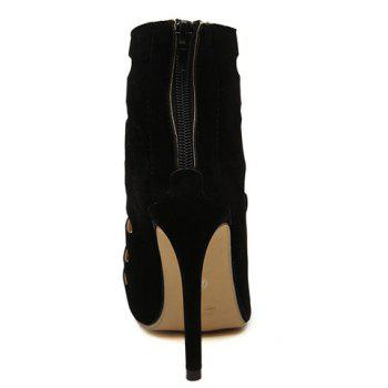 Gorgeous Stiletto Heel and Hollow Out Design Pumps For Women - 39 39