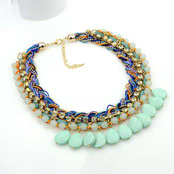 Delicate Bohemia Women's Rhinestone Beads Layered Necklace