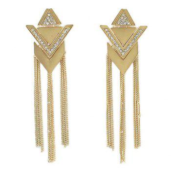 Pair of Noble Solid Color Tassel Embellished Women's Earrings