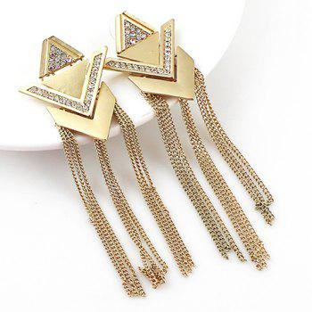 Pair of Noble Solid Color Tassel Embellished Women's Earrings - GOLDEN