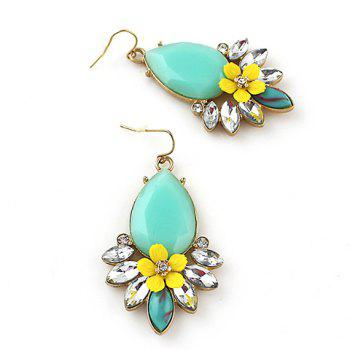 Pair of Dazzling Faux Gem Embellished Earrings For Women - COLORMIX