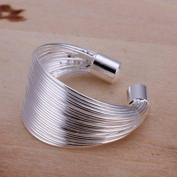 Silver Plated Coil Ring -