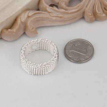 Silver Plated Nets Ring -  US SIZE 8