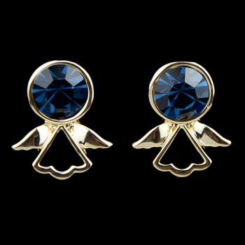 Pair of Faux Gemstone Embellished Angell Shape Stud Earrings