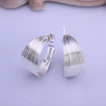 Pair of Alloy Round Stud Earrings
