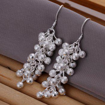 Frosted Grapes Pearl Drop Earrings