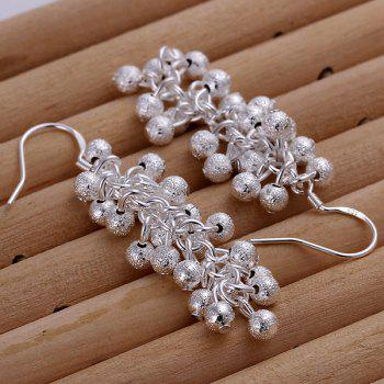 Frosted Grapes Pearl Drop Earrings -  LENGTH:5.5CM
