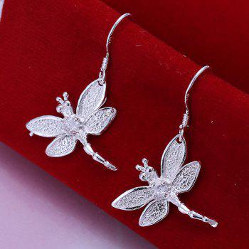 Pair of Dragonfly Drop Earrings