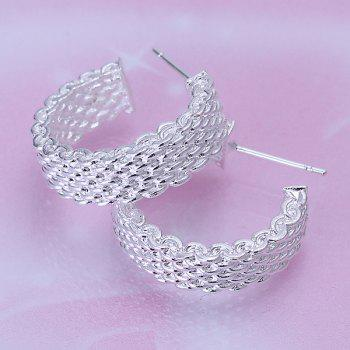 Pair of Round Alloy Stud Earrings