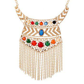 Characteristic Special Design Tassels Decorated Geometric Pendant Necklace For Women
